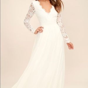 Lulus white maxi dress